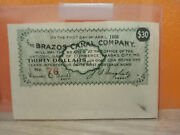 1908 The Brazos Canal Company 30 Interest On First Mortgage Bond Note
