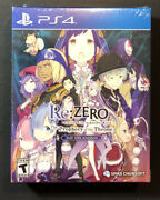 Rezero Starting Life In Another World The Prophecy Of The Throne Day 1 Ps4 New