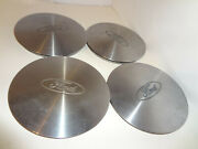 Vintage Ford 7 Logo Hubcaps Center Caps Oem Convex Moon Not Flat Set Of 4