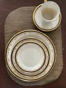 Vintage Discontinued Lenox Eclipse China 5 Piece Place Setting 1972 To 2007