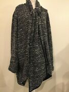 Maggie Barnes Coat, Sz 4x, Wool And Polyester, Versitile Wrap Collar, Nwt