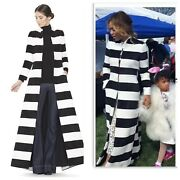 1300 Nwt Alice + Olivia Striped Coat Celeb Favorite- Sold Out- Xs