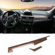 For Bmw X1 F48 2016-2021 Pine Wood Grain Central Console Dashboard Panel Trim