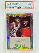 2012-13 Select Silver Prizm Jimmy Butler Game Worn Auto Rc Rpa /199 Psa 9 Pop 8