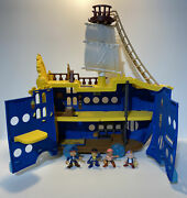 Disney Jake And The Neverland Pirates Mighty Colossus Rolling Ship W/ 4 Figures