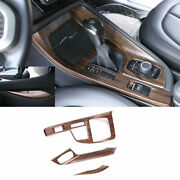 For Bmw X1 F48 2016-2021 Pine Wood Grain Central Console Gear Shift Panel Trim