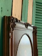 Picture Frame French Provincial Antique Gesso Anti-glare Glass Fits Oval 11x14