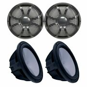 Two Wet Sounds Revo 10 Subs Black Subs And Black Closed Face Sw Grills 4 Ohm