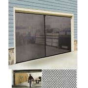 Double Garage Screen Door 16 X 7 Ft. Air Circulation Prevents Insects Nylon Mesh
