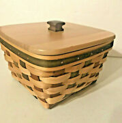 Longaberger Large Berry Act Basket Protector Lid American Craft Tradition 2007