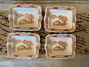 Furnivals Brown Quail Ask Trays Lot Of 4 1913 England Oblong Rare Find Great