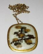 Royal Copenhagen Pendent In Porcelain And Sterling Silver By Nils Thorsson