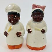 African American Chef And Cook Salt And Pepper Shakers - Japan Set Set 1