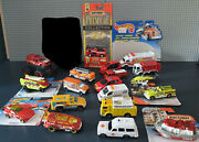 Lot X10 Loose Rescue Cars And Truck 1/64 _ Fire And Rescue Excellent Condition