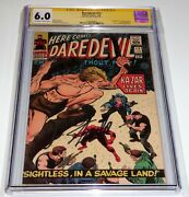 Daredevil 12 Cgc Ss 6.0 Signature Autograph Stan Lee 1st Appearance Plunderer