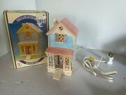 Porcelain Hand Painted Easter Village Hopalong House In Box 2