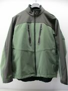 Simms Fishing Xl Windstopper Gore Soft Shell Menand039s Jacket Green Charcoal Nylon