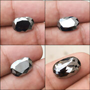 Worldand039s Best Natural Black Diamond 6.81ct Both Sides Oval Aaa Top Grade Quality
