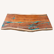 Made To Order Olive Epoxy Table Acacia Live Edge Epoxy Resin Dining Table Deco