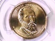 2011 P James Garfield Presidential Dollar Pcgs Ms 67 Position A 20507654