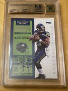 Russell Wilson 2012 Contenders Rookie Ticket Auto Bgs 9.5 Gem Mint