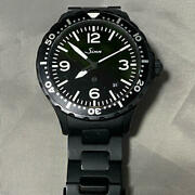 Sinn 657 S Automatic Stainless Steel Bracelet Black Men's Watch Box And Papers