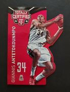2014-15 Totally Certified Red Die Cut Giannis Antetokounmpo Serial 082/135