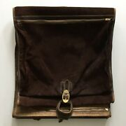 French Company Vintage Tweed And Suede Folding Garment Bag Hanging Suitcase