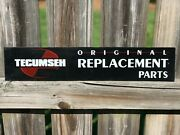 Tecumseh Parts Sign Replacement Parts Sign Engine Parts Advertising Sign