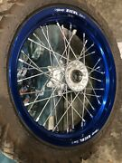 2013 Drz400sm Supermoto Blue Excel Front Wheel Rim Straight With N E W Tire Oem