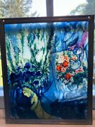 Glassmasters Stained Glass Marc Chagall Lovers Window- Art Institute Chicago