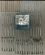Large Lot Of 194 Piece Vintage Craft Tool Leather Crafting Tools Stamps Rivets