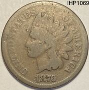1876 Indian Head Penny Cent