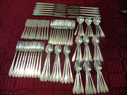 1847 Rogers Bros Lovelace Silverplate Flatware 103 Pieces With 10 Serving Pieces
