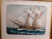 J.o.h. Cosgrave 11 1908-1968 Painting Maritime Seascape Tall Ship Listed Artist