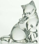 Lenox Crystal Clear Glass Gentle Beauty Figurine New In Box Cats