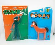 2002 Gumby And Pokey 2 Pieces Bendable Poseable Figures Prema Toys