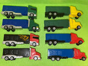 Pez Rigs Semi Trucks Set Of 8 Different Dispensers From 2004