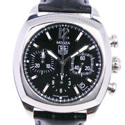 Tag Heuer Cr2113-0 Monza Watches Stainless Steel/leather Mechanical Automa...