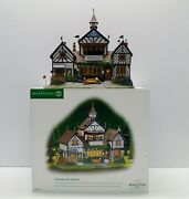 Department 56 Dickens Burwickglen Golf Clubhouse With Cord In Box