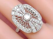 Art Deco 1.9ctw Diamond Platinum Fancy Cocktail Right-hand Or Engagement Ring