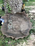 Louisiana Cypress Cookie Cut   River Table   Live Edge Slab Mississippi River