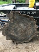 Louisiana Cypress Cookie Cut   River Table   Live Edge Slab Mississippi River2