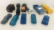 Lot Of 11 Avon Vintage After Shave Bottles Thunderbird Cars Stage Coach Train