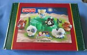 New Fisher Price Little People Nativity Lil' Shepherds 2005 Christmas Hard Find