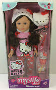 New My Life As Hello Kitty 18 Poseable Toy Doll Brunette New W/accessories