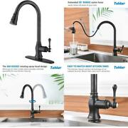 Tohlar Oil Rubbed Bronze Kitchen Faucets With Pull Down Sprayer Farmhouse Antiqu