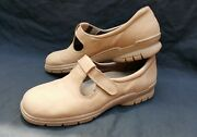 Easy Spirit Womens 10 Beige Leather Anti Gravity Comfort Casual Walking Shoes