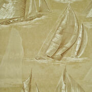 Double Roll Nautical Wallpaper R232/dr Boon Island Toile Cl Dune