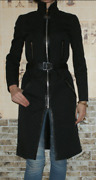 Rare Canvas+leather Coat 42its-m Runway